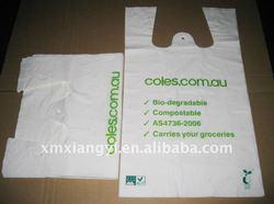 custom t shirt plastic bag used for supermarket, grocery