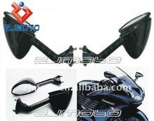 MOTORCYCLE MIRRORS For KAWASAKI NINJA ZX14 ZX-14 ZX14R ZX 14 14R 2006-2011 Jet Black Racing Mirrors