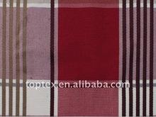 100% fios de algodão tingidos tecido lençol
