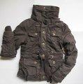 Dame winter mode polsterung jacke mit fell 100% aus baumwolle steinwäsche