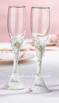 Beautiful wedding toasting glasses
