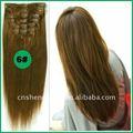 Clips en la extensión del pelo humano