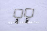 square metal curtain ring