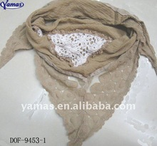 Fashion lace popular scarf in stock now