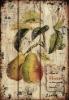 Rust Design Decorative Fruit Vintage Wall Plaque