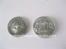 Antigo 3D de prata moedas