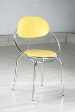modern style yellow PVC leather dining room chairs MDC-79