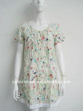 2012 new fashion printed causal ladies dress