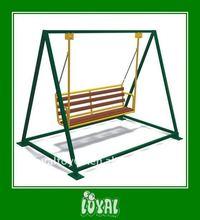 teak swing bench