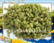 dried fruits dried green raisins 90% green