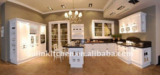 New style fr ne blanc armoires de cuisine armoire de for Voir des modeles de cuisine
