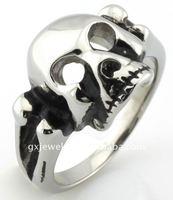 Keith Richards skull steel ring R950239