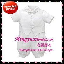 2012 Lastest Design Hot Ivory Sweetheart Satin boy christening dress