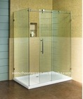 stainless steel glass square sliding door shower/bath room