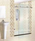 stainless steel frameless corner glass sliding door standing shower enclosure door