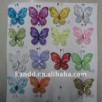 2 mini nylon butterflies