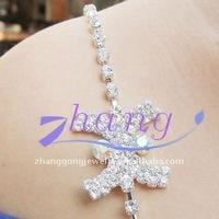 Crystal AB sparkly rhinestone bra strap