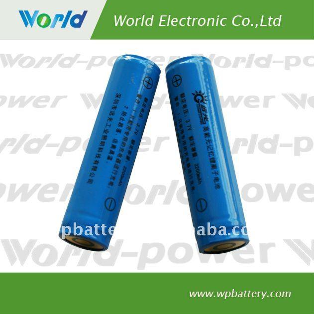 18650 3.6V li-ion battery 2250mAh 5C discharge