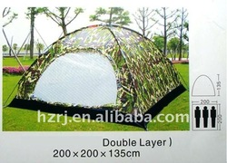 3person army style camping tent 170T polyester uv protection
