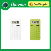 solar desktop calculator solar mini calculator clear plastic calculator