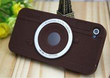 For iphone 4 soft rubber handphone case, fashion camera model