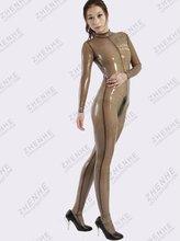 sexy Transparent black latex catsuit