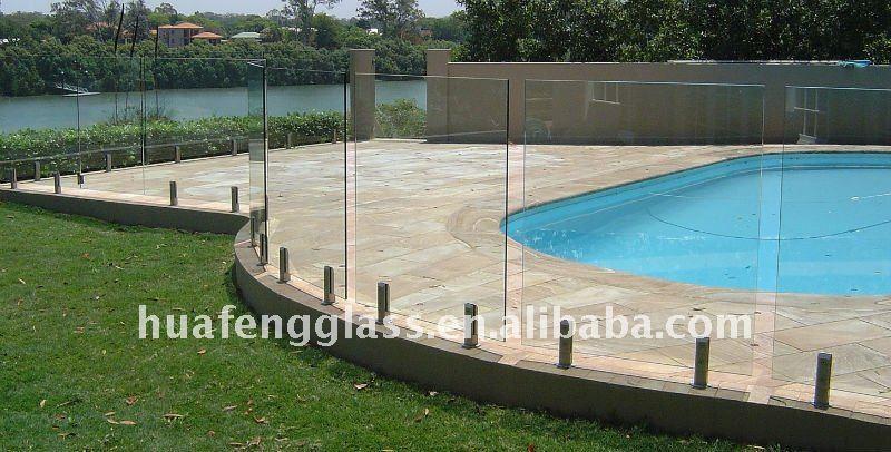 Sans cadre verre cl tures de piscine verre de construction for Clotures de piscine