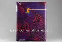 Purple Romantic plastic hard back cover for Ipad 2 slim case