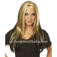 Smoky Eyes Wig in Black with Blonde Streaks/Highlights