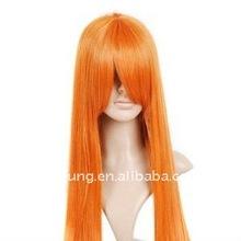 Orange Red Long Anime Costume Wig Hair