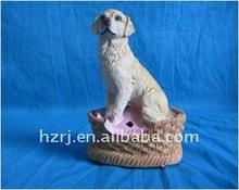 garden decoration sensor resin dog