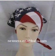 100% cotton printed flag bandana for head,Flag symbol