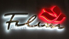waterproof backlit Titanium metal stainless steel LED letter sign
