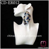 Acrylic Leopard Earring with diamonds CD-ER012