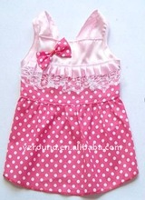 100% cotton pet dress w/dot B