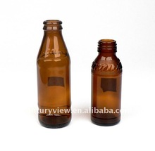 60-150ml brown glass mineral water bottle