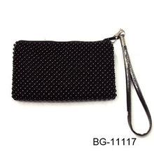shiny mini spot black latest design ladies purse