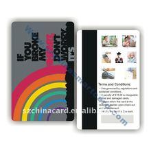Fashion customize magnetic PVC card