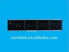 IEC C19 type 4 way Aluminum shell power strip with light
