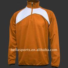 2012 Men's orange outdwear winter longsleeve track top windbreaker outwear with 1/4 zipper elastic cuff and bottom easy to wear