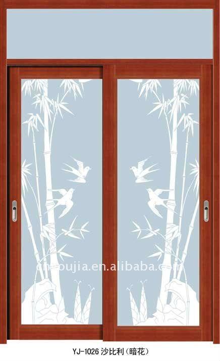 Puertas De Aluminio Para Baño Interior:Aleación de aluminio puerta corredera para baño y cocina-Puertas