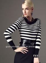 fashion ladies stripe blouse garment 2012