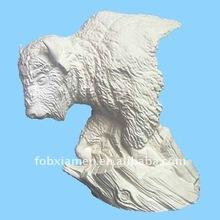 Ceramic bisque buffalo figurines