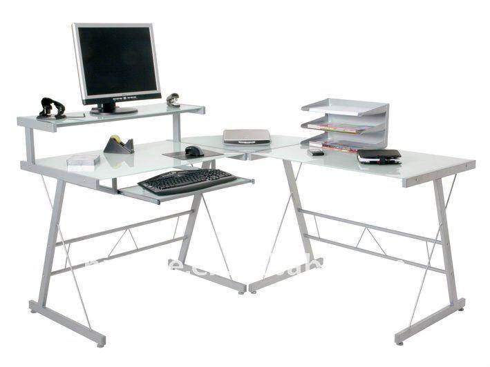 verre coin ordinateur de bureau tables en m tal id du produit 497839770. Black Bedroom Furniture Sets. Home Design Ideas