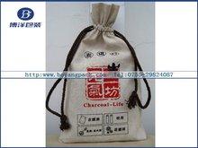 cotton drawstring bags for rice/flour