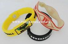 Personalized Silicone Rubber Energy Balance Bracelet