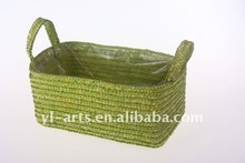 Forest green naturl wheat straw box
