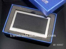 Fashionable leather card holder gift set