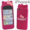 2011 cute hello kitty style silicone cover for Iphone 4G