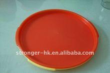 Plastic round serving plate